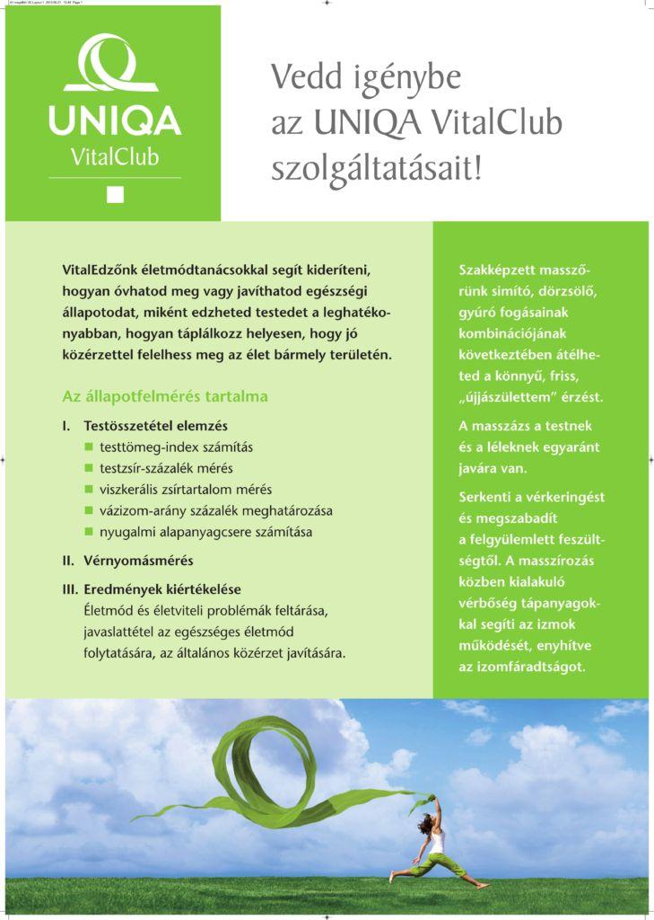 UNIQAVitalClub_szolgáltatások1